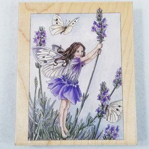Lavender Flower Fairy by Stamps Happen - Rare New